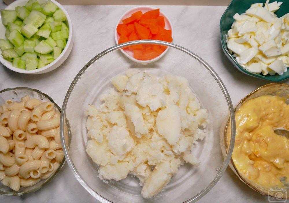 馬鈴薯沙拉 食材