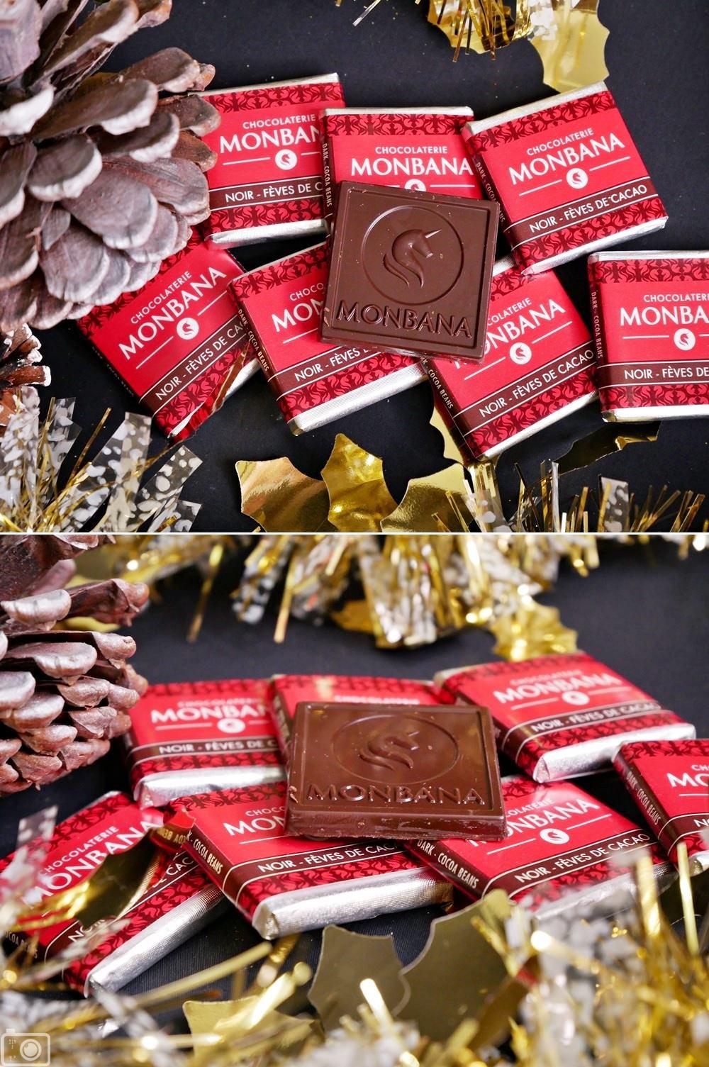 MONBANA可可豆黑巧克力片
